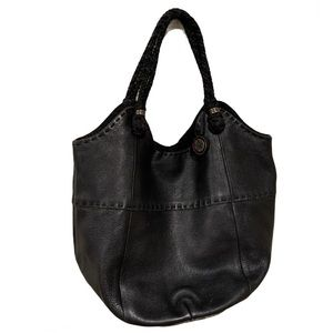 The Sak Black Pebbled Leather Hobo Purse